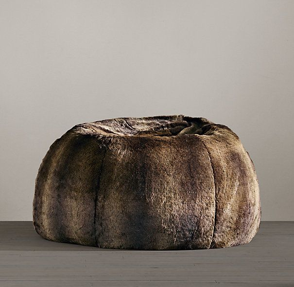 Grand Luxe Faux Fur Bean Bag