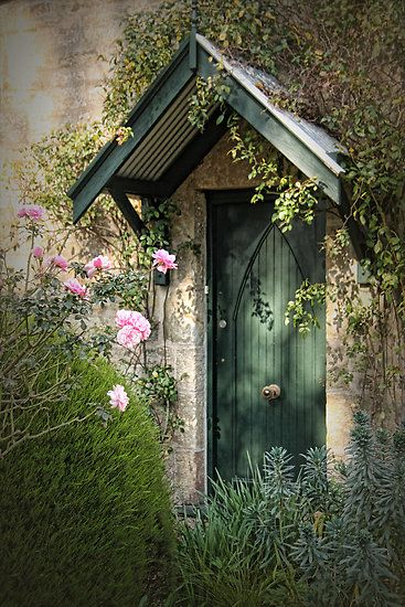 I want to build a small shed like building near the main house with a beautiful door and flowers covering it all. It can be my magical little space...