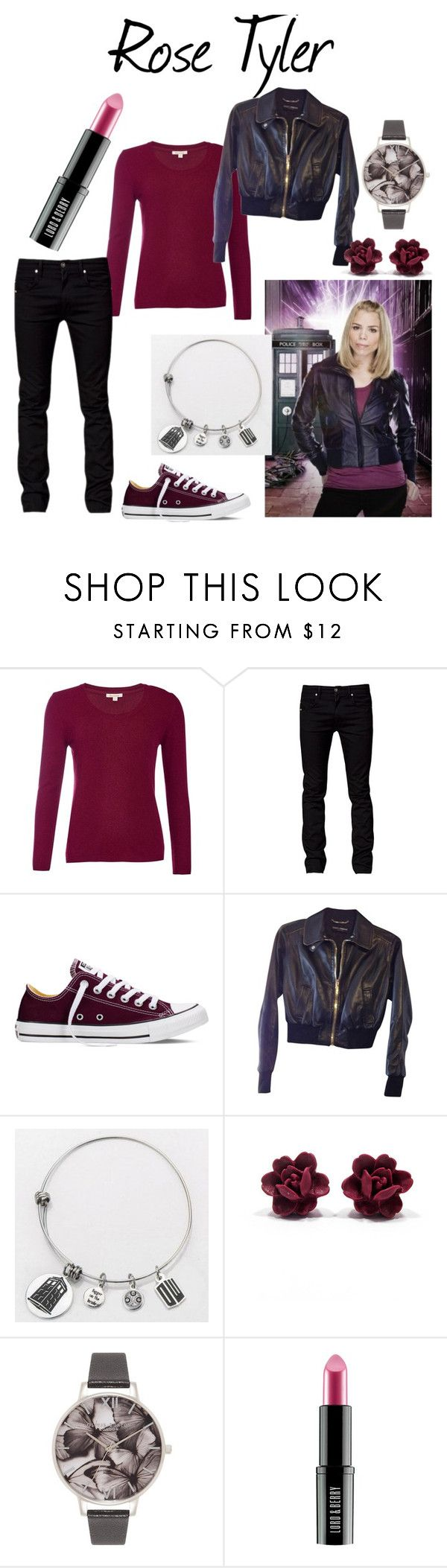 Companions: Rose Tyler by jas67angel on Polyvore featuring Barbour, Dolce&Gabbana, Tiger of Sweden, Converse, Olivia Burton, Lord & Berry, women's clothing, women's fashion, women and female