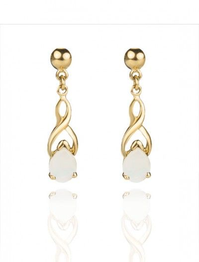 9ct Gold Opal Drop Earrings - Available at Onyx Goldsmiths