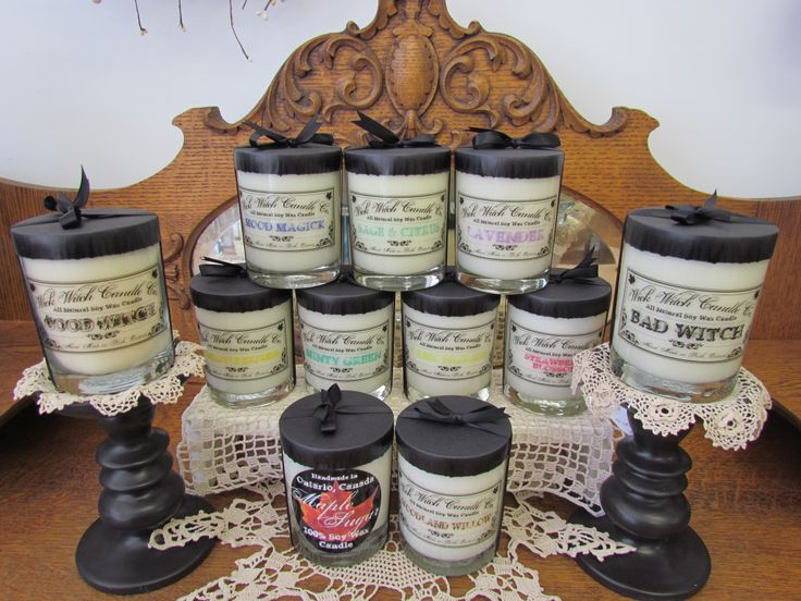 Wick Witch Candle Co. ~ All Natural Soy Wax Candles ~ Crafted Locally ~ <3 ~ available at Mariposa Design.