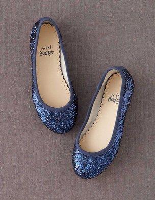 @BodenClothing Ballet Flats Navy Glitter