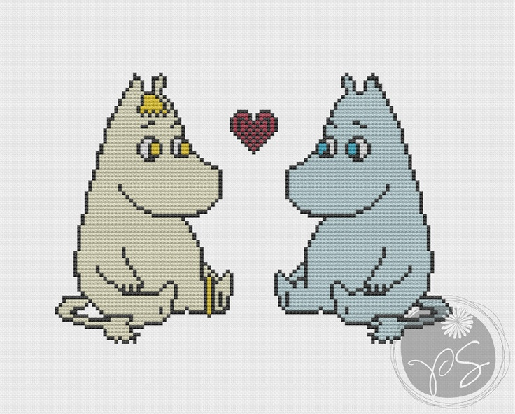 Moomins (Printable PDF Pattern). $3.50, via Etsy.