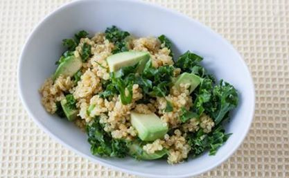 #Epicure #Kale #Quinoa Salad with Mango Curry Vinaigrette (350 calories/serving)