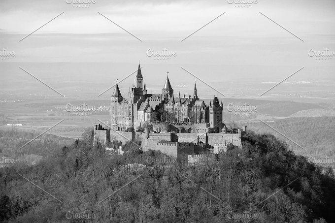 Vintage Castle Hohenzollern Hohenzollern Castle Architecture Photo Castle