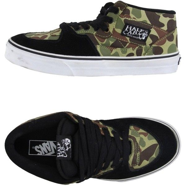 Vans Low-tops & Trainers (74 BGN) ❤ liked on Polyvore featuring shoes, sneakers, military green, flat sneakers, vans shoes, camo shoes, olive green shoes and low top