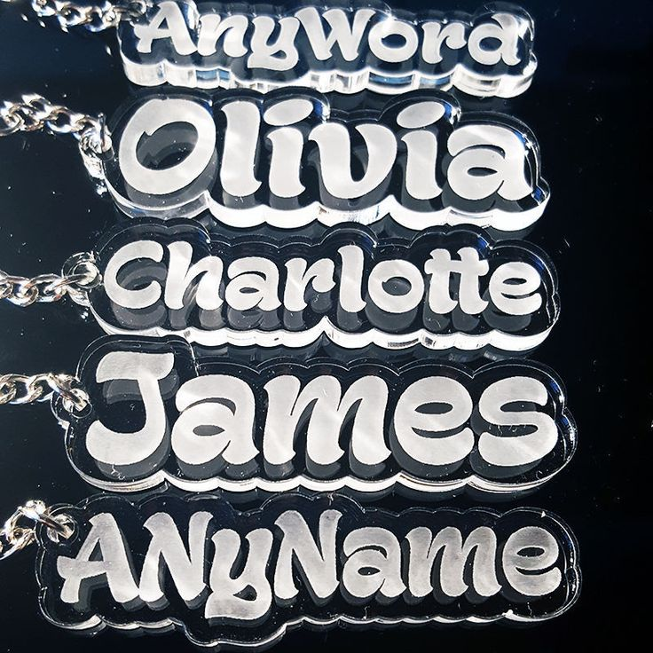 Keyring personalised with any name on it: 1 week delivery uk stock