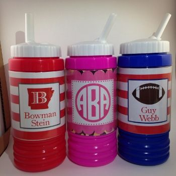 Personalized Sports Bottle and Snack Cup-Monogrammed sports bottle, personalized sports bottle, kid's bottle, kid's sports bottle, Monogrammed kids' bottle, sports cup, monogrammed sports cup, football cup for kids, kid's football cup, red sports cup, blue sports bottle, pink sports bottle, leopard sports bottle, girls sports bottle, boy's sports bottle