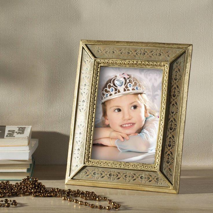 #ramka #photo #picture #frames #family #decoration #home #dekoracje Ramka Beatrice 19x2x24cm gold, 19x2x24cm - Dekoria