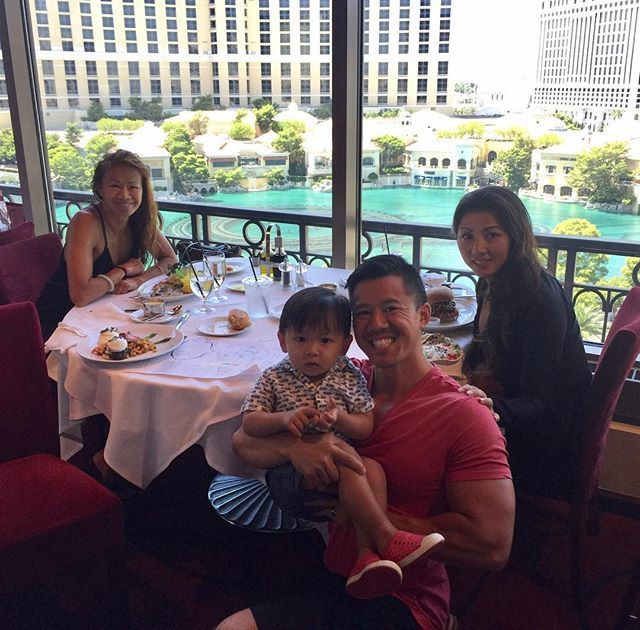 """""""Beautiful Sunday Family👪 Brunch 🍴🍾 at the Eiffel Tower 🇫🇷 Restaurant at the Paris Hotel. Amazing View of the @bellagio 💦 fountain show. Great food with even better company. ☝🏽time for my mom and my little man @jordanjonjung 👶🏻 Live Life to it's Fulllest 💯thanks for making our family complete babe @fiteyedoctor 😘 #HustleGrind247 😎 #family #familygoals #squadgoals #love #wife #wifey #mytravelgram #storyofmylife #workout #work #workoutmotivation #travel #traveling #travelblogger…"""