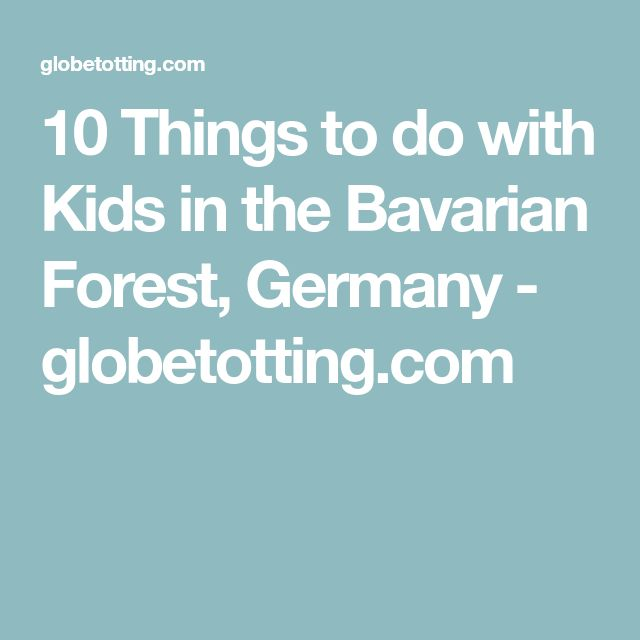 10 Things to do with Kids in the Bavarian Forest, Germany - globetotting.com