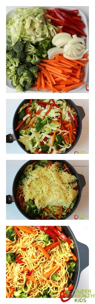 One Pot Veggie Japanese noodles. This looks amazing with 6 different veggies!!