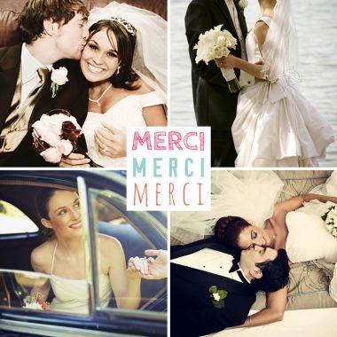 Remerciements de mariage 4 photos, à découvrir ici : http://www.lips.fr/impression/carte-remerciement-mariage/format-130-x-130-2p-modele.html?modele_id=816  #remerciementsmariage