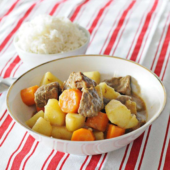 Beef Japanese Curry prepared in the Thermomix