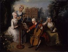 Frederick, Prince of Wales with his sisters at Kew, c.1733. A copy of the painting hangs at Cliveden.