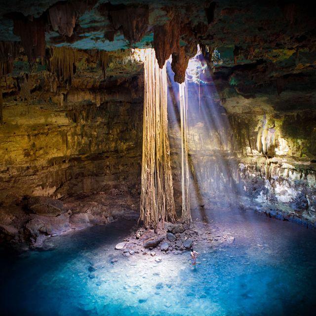 Cenotes @ Yucatán Peninsula, Mexico: BeautifulYucatán Peninsula, Mexico Travel, Yucatan Peninsula, South America, Vacations Spots, Places, Nature Pools, Fairies Tales, Nature Scene