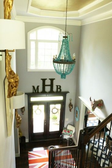 Our foyer tour! Take a peek inside our decorated two story foyer!