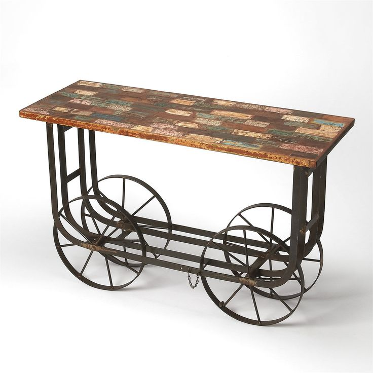 butler industrial chic mercer console table