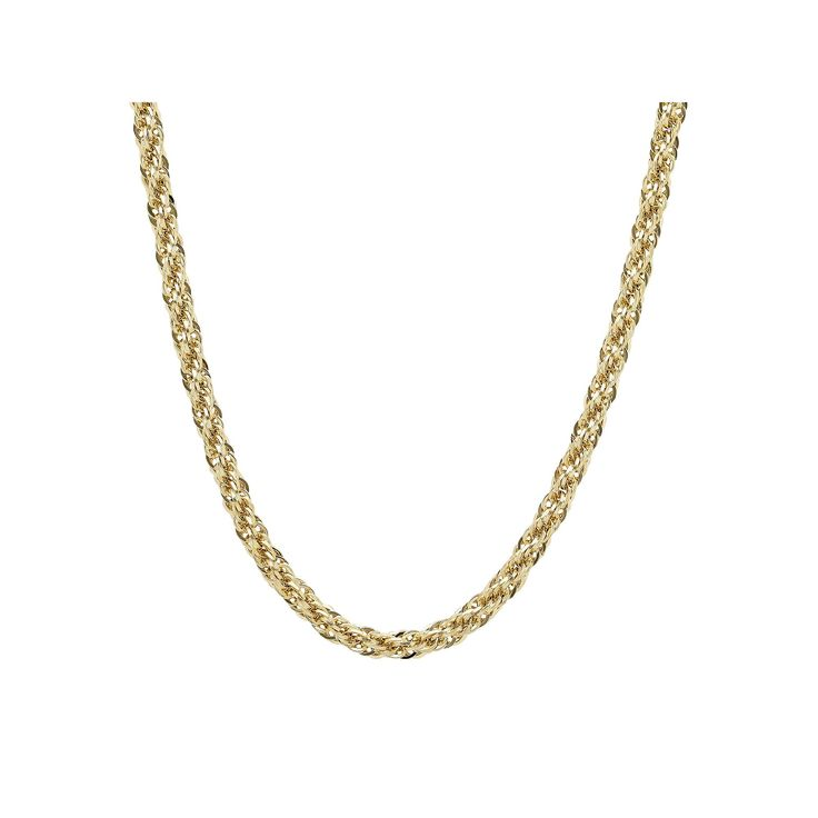 """Everlasting Gold 14k Gold Rope Chain Necklace - 24 in., Women's, Size: 24"""""""