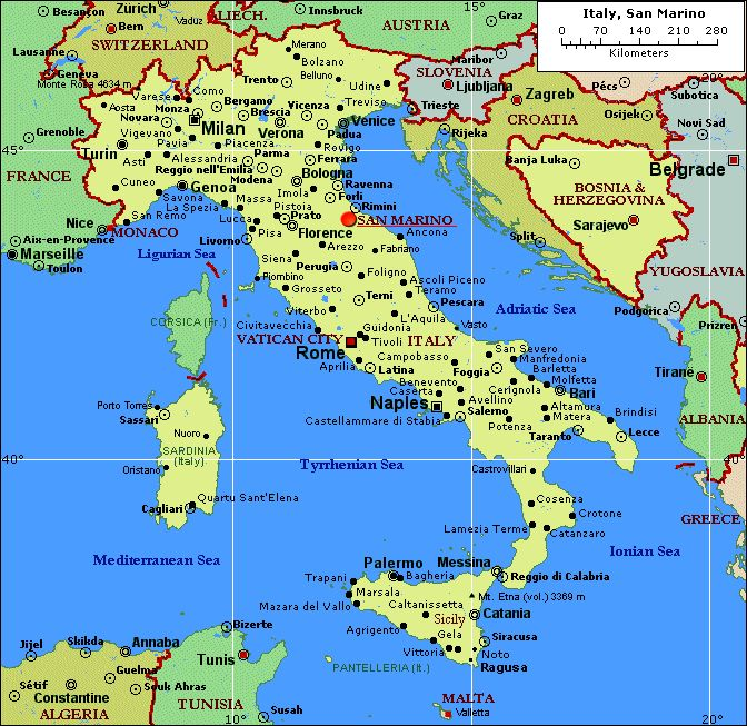 The Best Detailed Map Of Italy Ideas On Pinterest Earth View - Tunisia cities small scale map