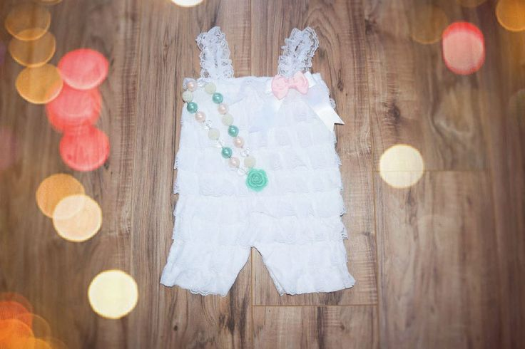 Lace romper,baby girl romper  White Romper Set. Lace  Romper , headband and romper, Baby Girl Photo Prop by SweetFamilyCrafts on Etsy