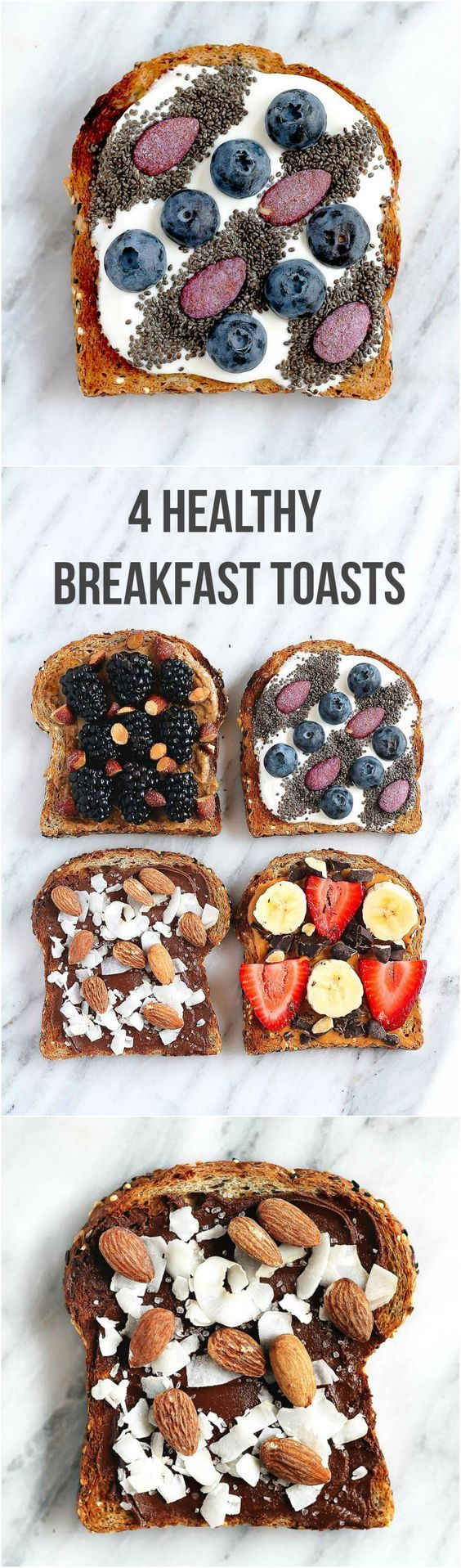 Need some toast inspiration? Try one (or all!) of these beautiful and HEALTHY breakfast toasts.  Ambitious Kitchen