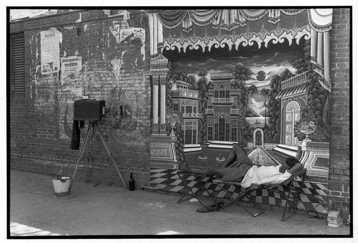 """Street photographer in the old city."" Delhi, India • 1966. (Photo: Henri Cartier-Bresson/Magnum Photos)"