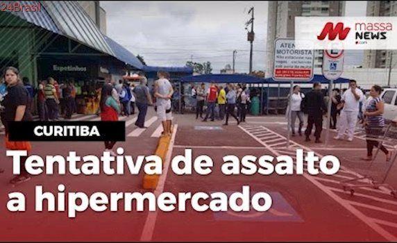 Jovem morre em tentativa de assalto em hipermercado no bairro Boa Vista, em Curitiba