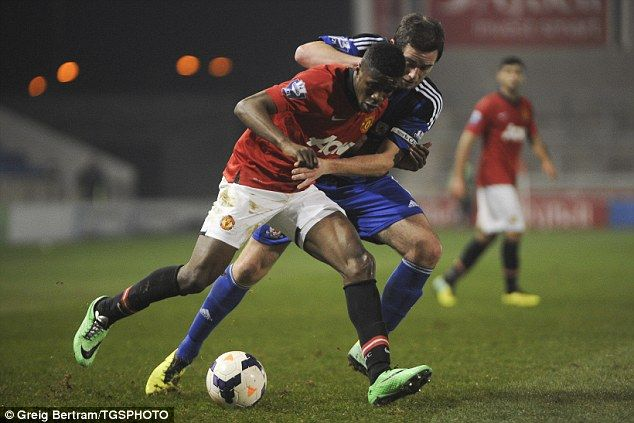 The 21-year-old England winger was named as a substitute for the Under 21 Premier League match against Middlesbrough