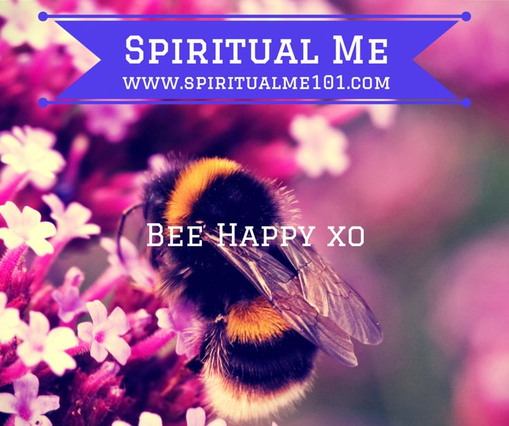 Bee Happy - technically the bumble bee's body is too big for its wings so it shouldn't be able to fly .. but it doesn't know that so it flies beautifully ... You can do whatever you set your mind to  SpiritualMe101.com #SpiritualMeGoals #SpiritualMeSquad  facebook.com/spiritualme101