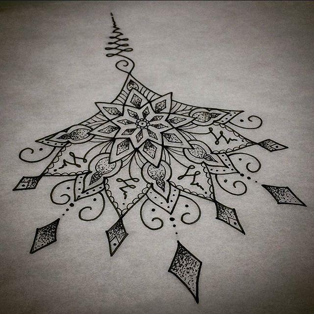 Best 25 Mandala Sternum Tattoo Ideas On Pinterest