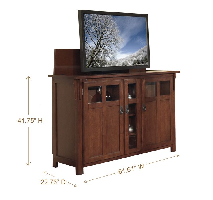 Bungalow Mission Oak Tv Lift Cabinet Www