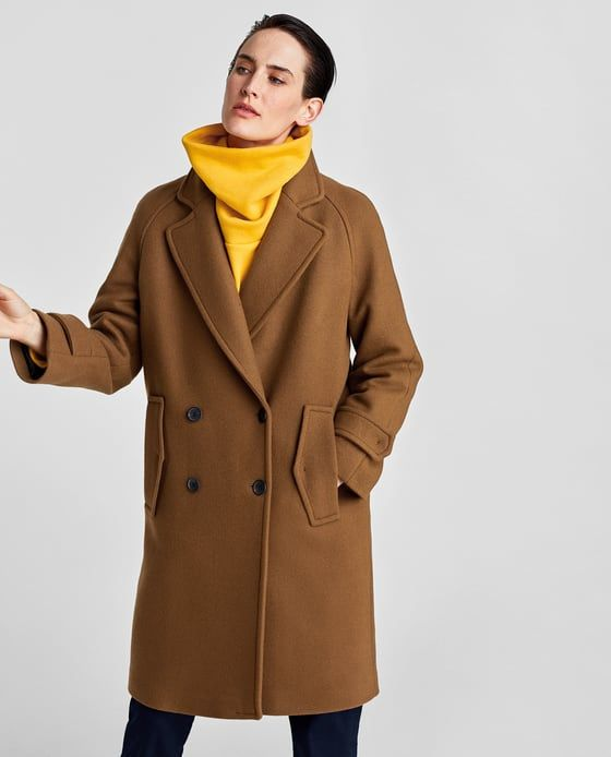 43e0c1a7addc Image 2 of LONG CROSSOVER COAT from Zara