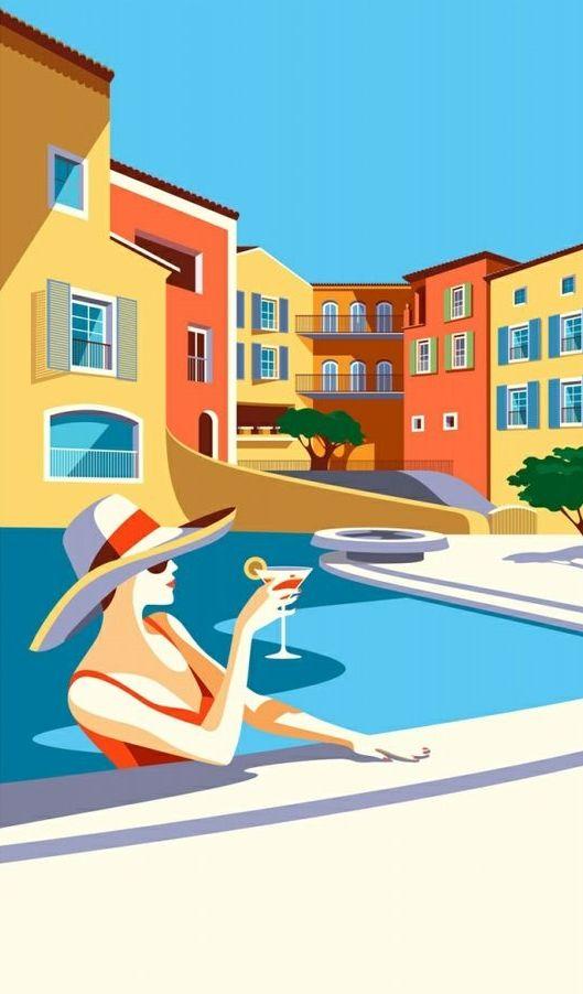 Malika Favre illustration for Floriat Group (via hoodoothatvoodoo)
