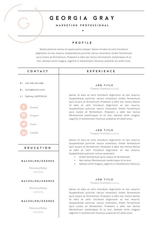 Resume Template 3 Page | CV Template by TheTemplateDepot on @creativemarket