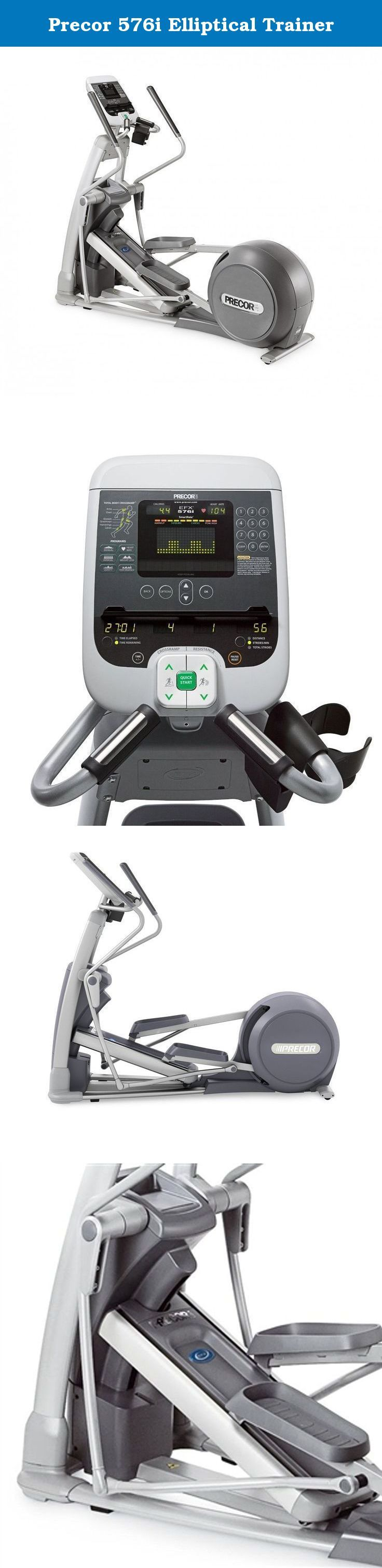 Precor 576i Elliptical Trainer. With a smooth, fluid motion that mirrors the movement of the body, the Precor EFX576i Experience elliptical fitness cross trainer provides an outstanding workout experience with a natural, elliptical movement. Designed for ease-of-use with intuitive displays that help you get on and get going, the 576i features an adjustable Cross Ramp that allows you to change incline and target specific muscle groups in both the upper and lower body. The Precor EFX 576i...