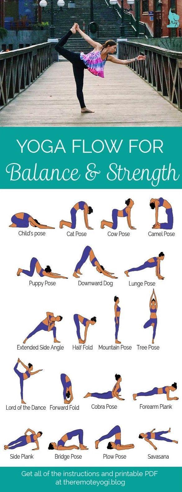 Yoga für Balance & Kraft – Gratis PDF Laden Sie diese Sequenz herunter – XOXOA