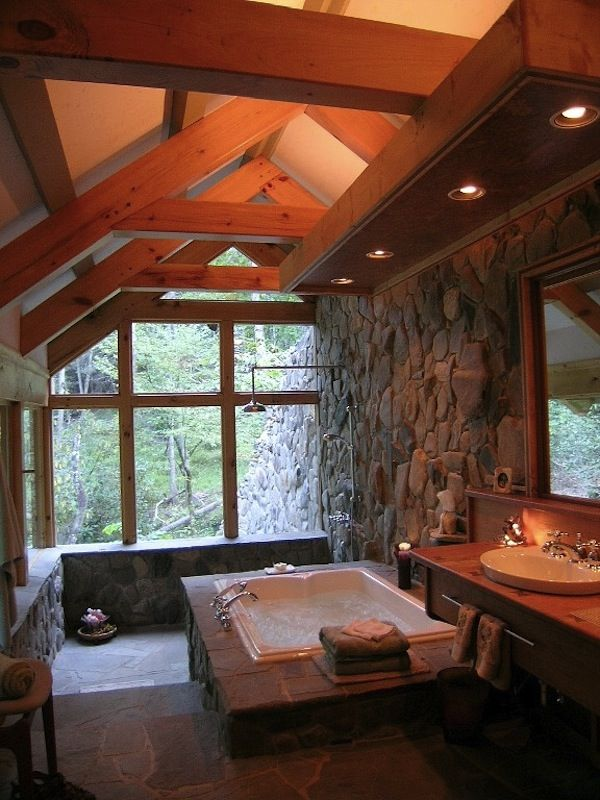 Best 25+ Stone bathroom ideas on Pinterest | Spa tub, Master ...