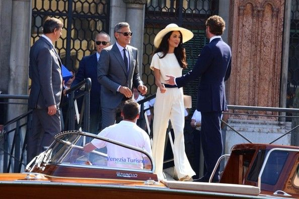 Amal Clooney Photos - George Clooney and Amal Alamuddin Go Boating - Zimbio