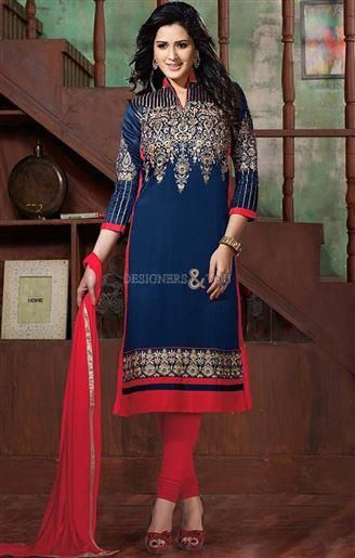 Bollywood Salwar Suits Collared Straight Kameez with V-Neck Visit: http://www.designersandyou.com/dresses/bollywood-dresses #India Style #BollywoodTrend #Designer #DesignerWear #PartyWear #LatestCollection #Modern #Fashionable #Trendy #Fabulous #Embroidered #Gorgeous #New Look