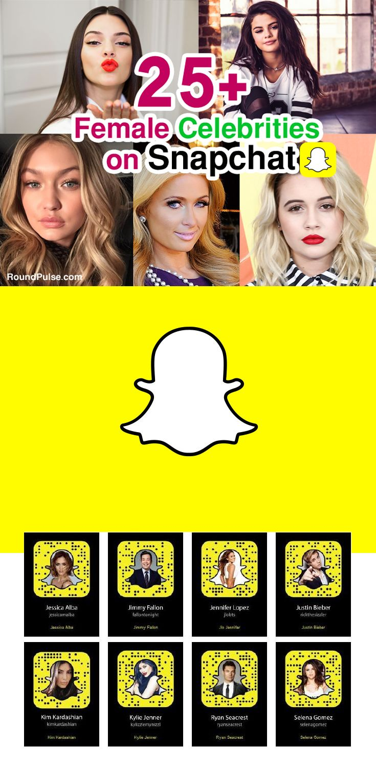 25+ Female Celebrities on Snapchat To Follow  #snapchat #celebrities #female #hot