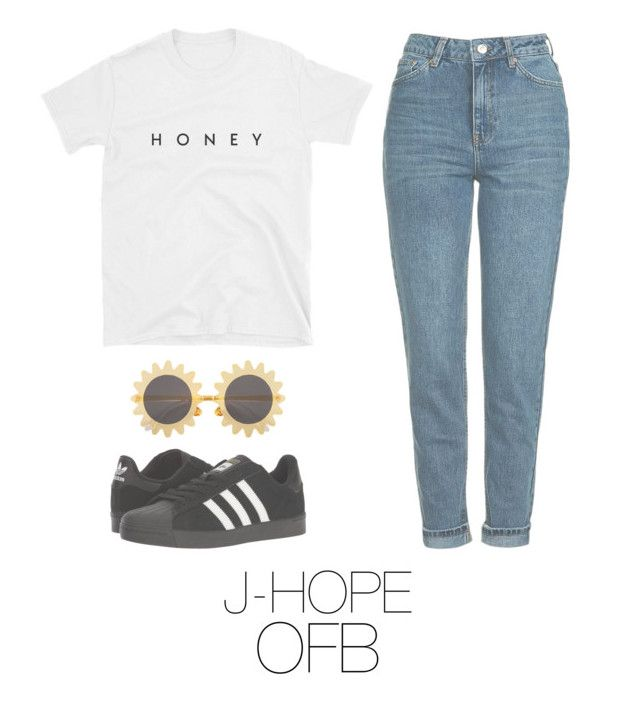 """""""j-hope bts outfit"""" by mazera-kor on Polyvore featuring мода, Topshop, H&M и adidas"""