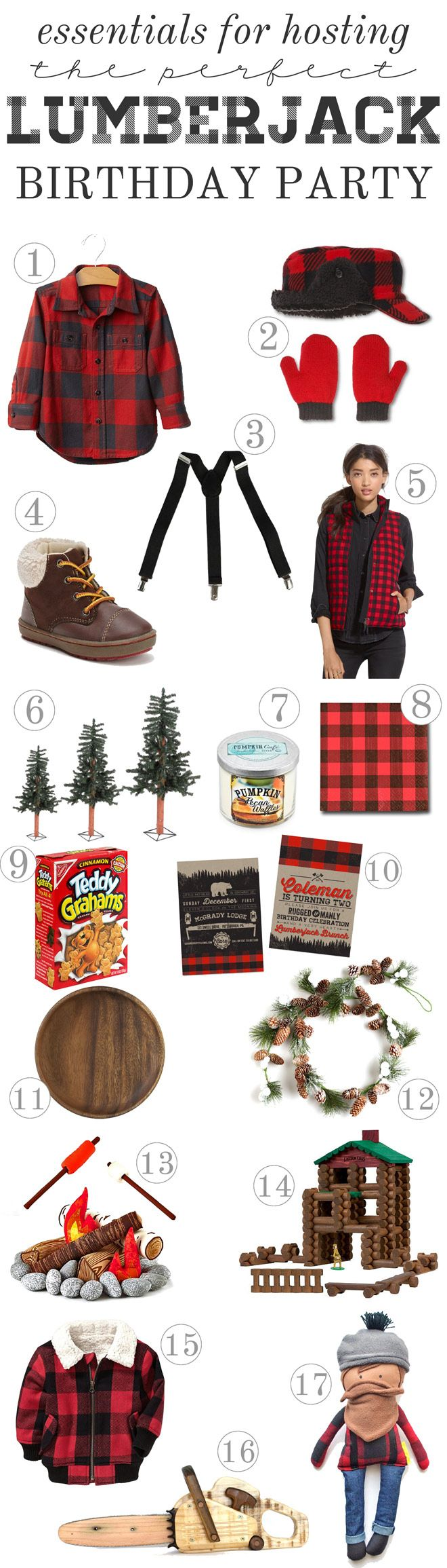 Host a Rugged and Manly Lumberjack Party | TONS OF IDEAS!