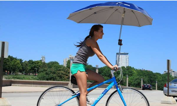 80 Must-Have Bike Accessories - From Cycling Booze Chambers to Pedal-Powered Chargers. Uberhood Bike Umbrella