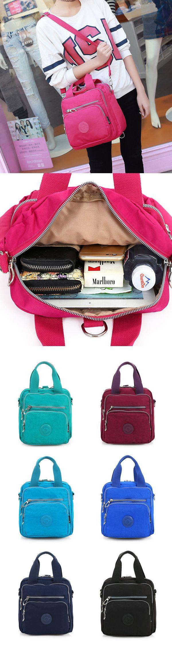 [$ 19.63]  Multifunctional Waterproof Nylon Large Capacity Multi-pocket Shoulder Bags Crossbody Bags Handbags