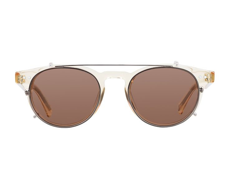 Bailey Nelson — Joyce in Champagne with Brown Clip On Sunnies • Available at thebigdesignmarket.com