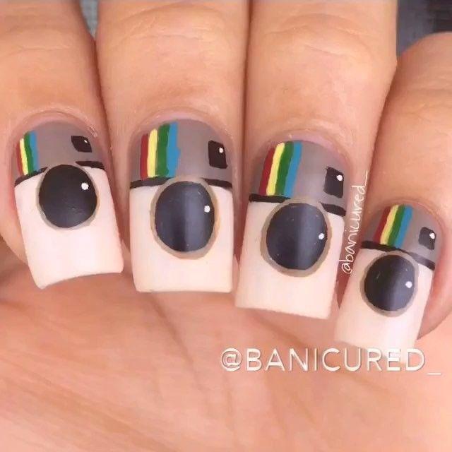 instagram nails design - Uñas pintadas con diseños de instragram