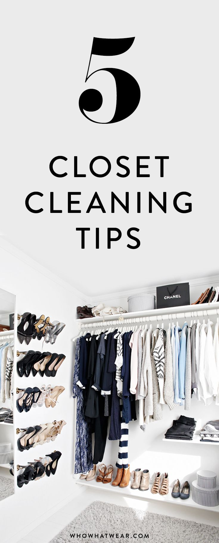 5 new closet cleaning tips that will help you get your space into tip-top shape // spring cleaning
