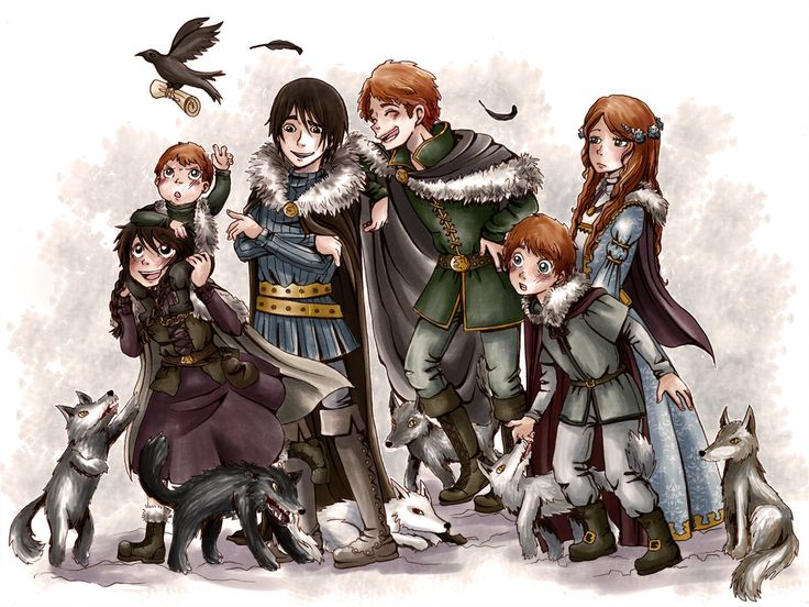 The Stark Children: Animated fan art by MiiBT | Game of Thrones Fan Art