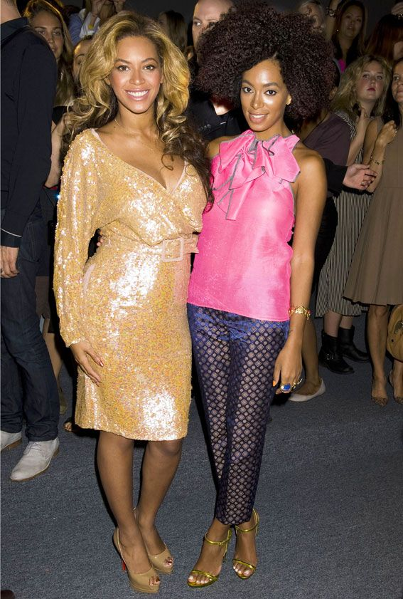 12 Stylish Celebrity Sisters We Love - Beyonce and Solange Knowles from #InStyle
